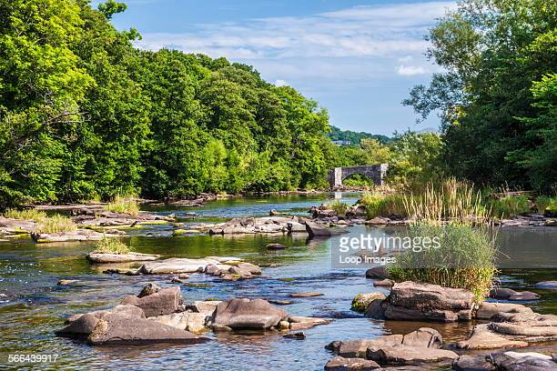 The River Usk near Llangynidr Bridge in the Brecon Beacons National Park