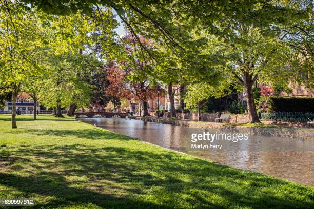 The River Windrush at Bourton-on-the-Water, The Cotswolds, Gloucestershire, UK