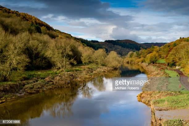 The river Wye at Brockweir near Tintern, Wales