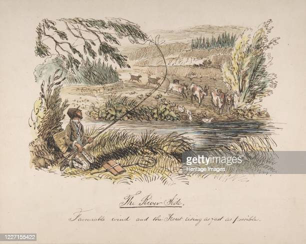 The Riverside Favourable Wind and the Trout Rising as Fast as Possible 183064 Artist John Leech