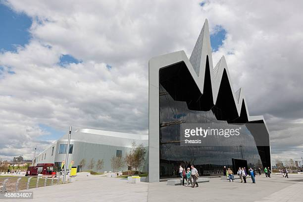 the riverside museum, glasgow - theasis stock pictures, royalty-free photos & images
