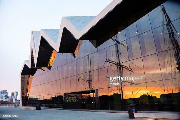 the riverside museum, glasgow - museum stock photos and pictures