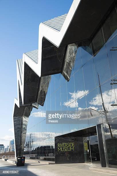 the riverside museum, glasgow - theasis stockfoto's en -beelden