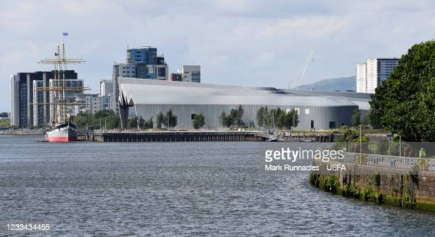 The Riverside Museum of Transport on the banks of the River Clyde during the UEFA Euro 2020 Championship on June 13, 2021 in Glasgow, United Kingdom.