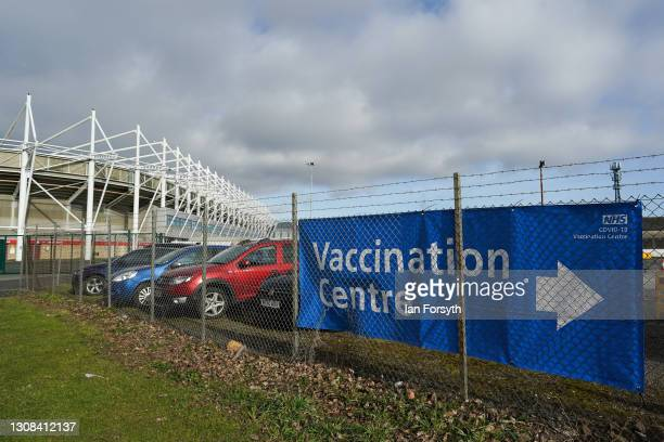 The Riverside Stadium opens as a covid-19 vaccination centre on March 22, 2021 in Middlesbrough, England. The Vaccination Centre in Middlesbrough...