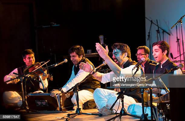 The Riyaaz Qawwali Ensemble led by artistic director Sonny K Mehta perform at the 12th Annual GlobalFest on the Marlin Room Stage at Webster Hall New...