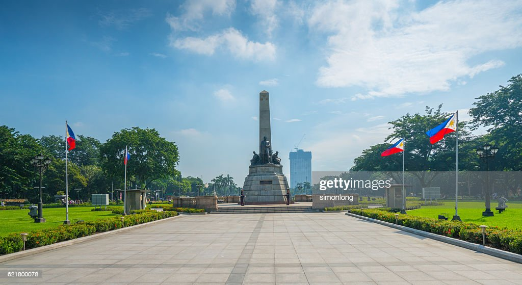 The Rizal Monument in Rizal Park : Stock Photo