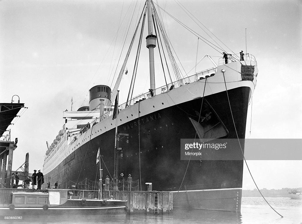 RMS Mauretania, 1939 : News Photo