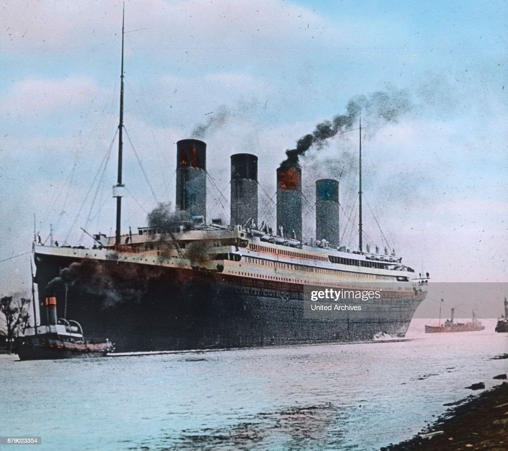 The RMS Titanic Is Drawn On 10 April 1912 By Tugs From The