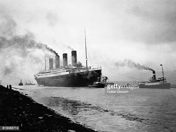 The RMS Titanic leaves Belfast for sea trials Built in the Belfast shipyards of Harland and Wolff the luxury liner was said to be unsinkable The ship...