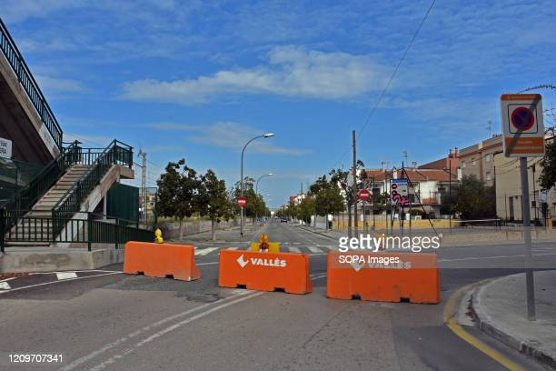 The road giving access to the city is blocked with crash concrete barriers to control unnecessary crossing during the Easter holiday amid coronavirus...