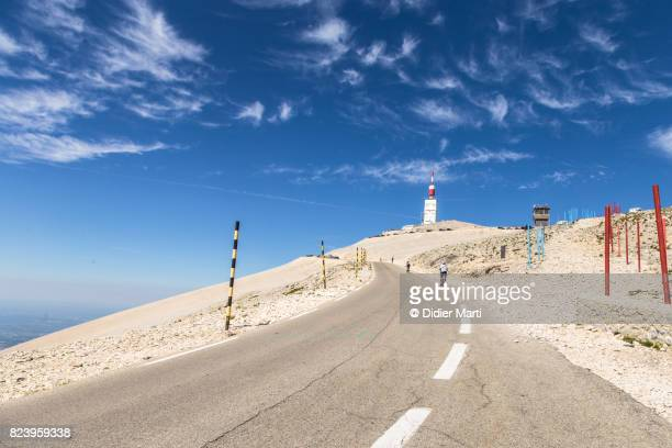 The road leading to the top of the Mount Ventoux in France