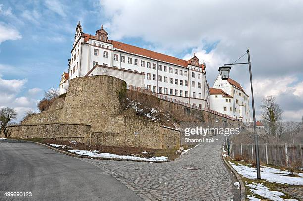 The road leading up to Colditz Castle, which was a notorious POW camp during World War Two for officers who had become security or escape risks.