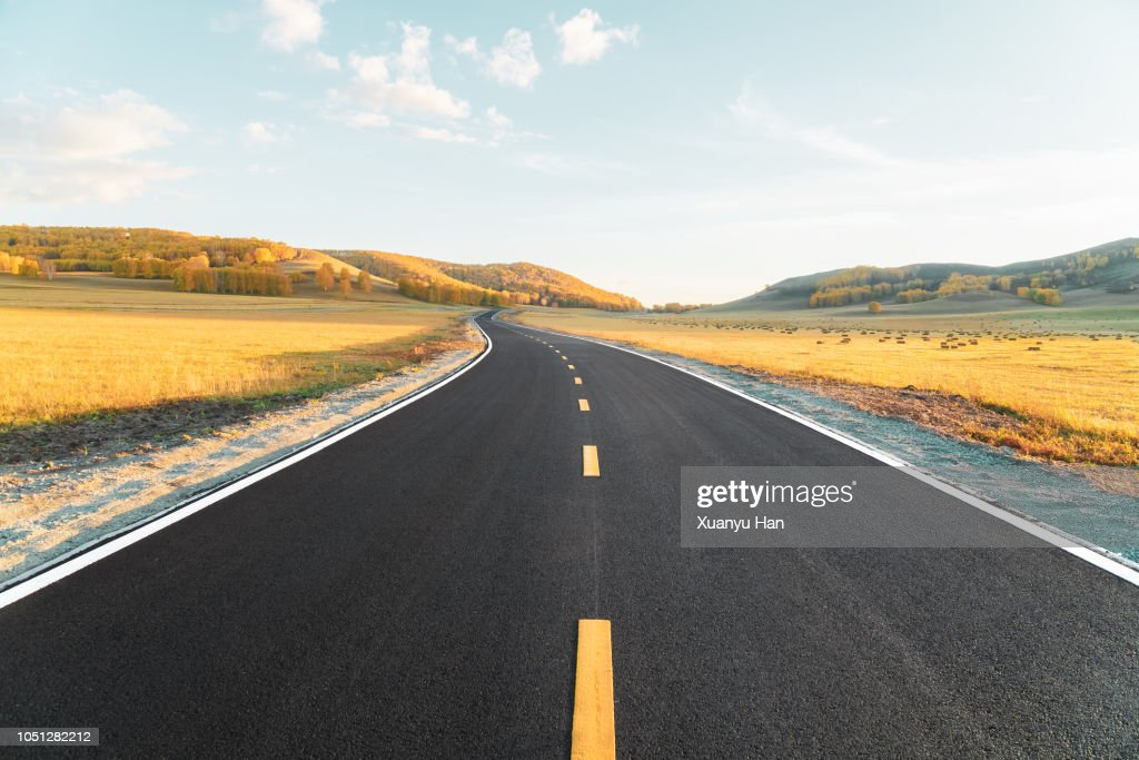 The road of autumn : Stock Photo