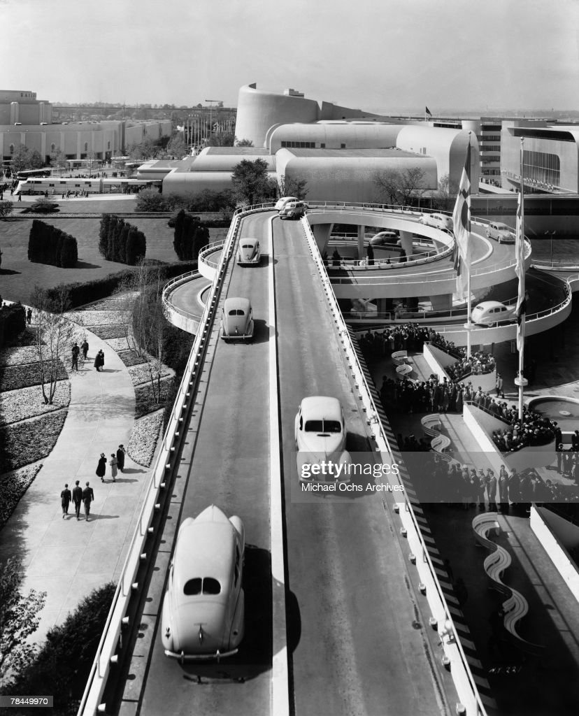 The Road of Tomorrow is envisioned at the Ford exposition on August 20 1939 at the 1939 New York World's Fair in Flushing Meadows, Queens in New York City, New York.