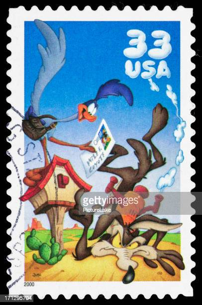 USA The Road Runner and Wile E. Coyote postage stamp