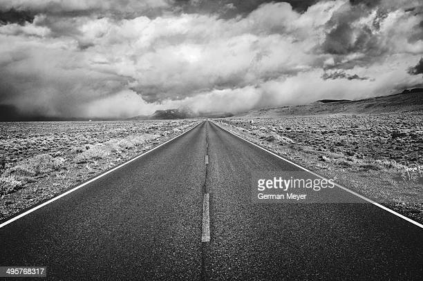 The road slips to nothingness