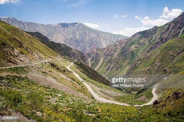 The road to Khaburabot pass, Tajikistan