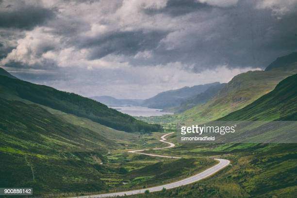 The Road To Loch Maree In Scotland