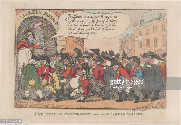 The Road to Preferment Through Clarke's Passage March 5 1809 Artist Thomas Rowlandson