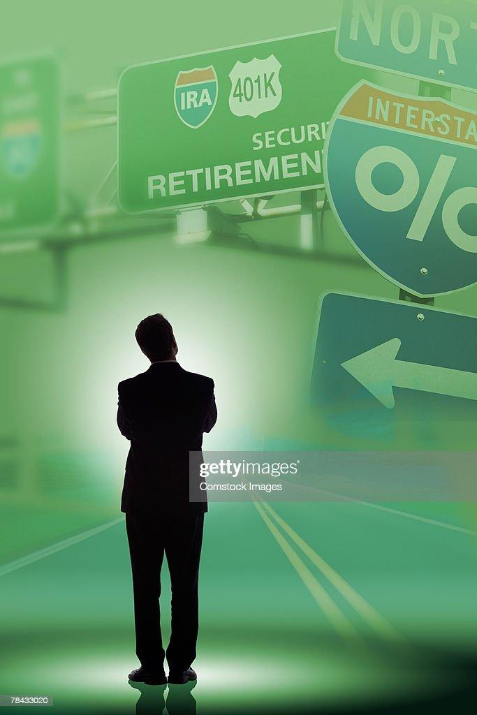 The road to retirement : Stockfoto