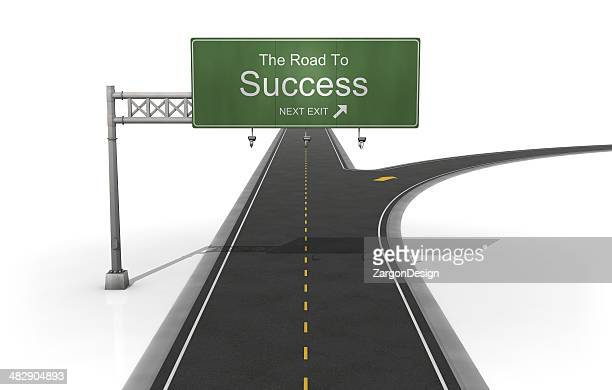 the road to success - exit sign stock pictures, royalty-free photos & images