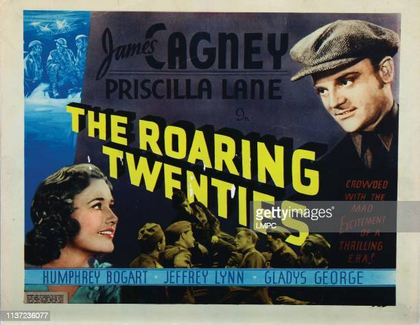 The Roaring Twenties lobbycard from left Priscilla Lane James Cagney 1939