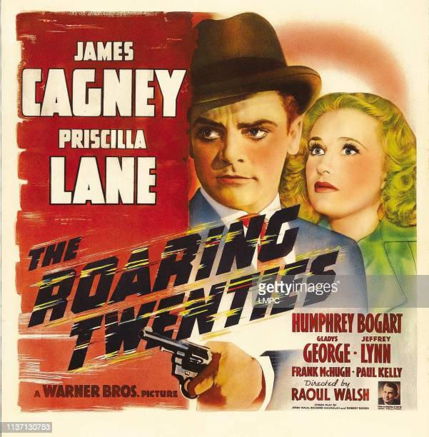 James Cagney Priscilla Lane bottom right Raoul Walsh on window card 1939