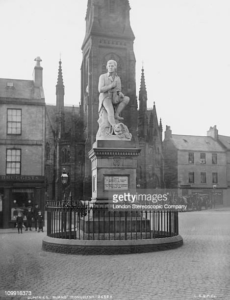 The Robert Burns monument in Dumfries Scotland circa 1910