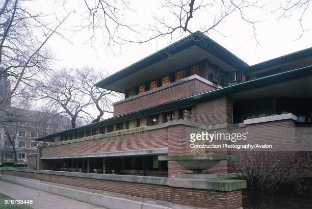 The Robie House, Chicago University, Illinois, USA. Designed by Frank Lloyd Wright.