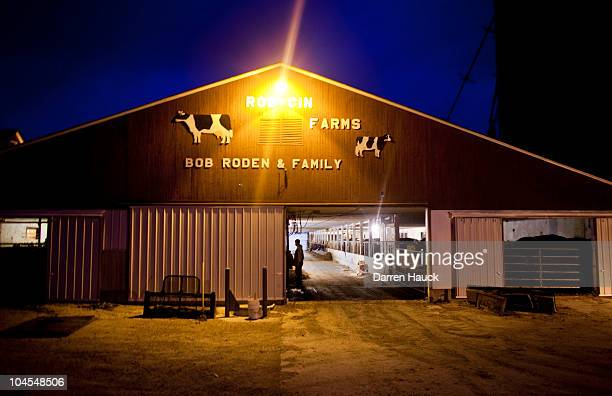 The RobNCin farm led by father Robert Roden wife Cindy and son Rick is seen on September 29 2010 in West Bend Wisconson Their farm has roughly 400...