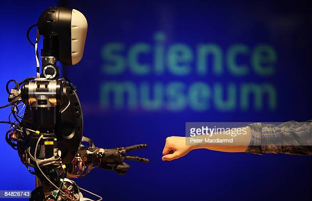 The robot is displayed at The Science Museum's Antenna Gallery on February 17, 2009 in London. BERTI is a life size humanoid robot built to mimic...