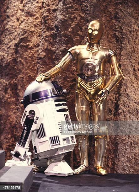 The robot R2D2 star and Anthony Daniels star in the CBS television 'THE STAR WARS HOLIDAY SPECIAL' Image dated August 23 1978