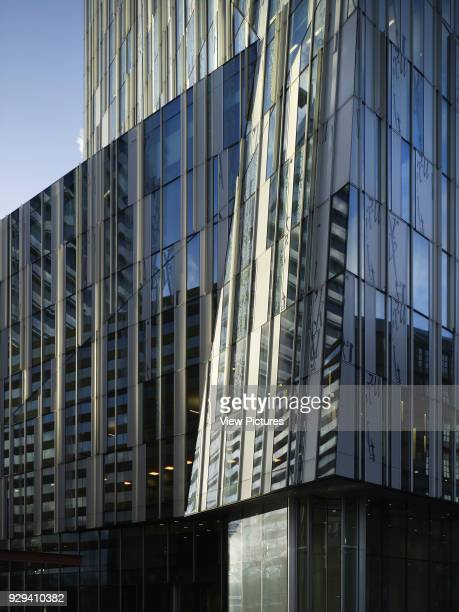 The Rock Amsterdam Netherlands Architect Erick van Egeraat 2011 Detail of reflective aluminium and glass paneling