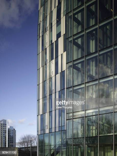 The Rock Amsterdam Netherlands Architect Erick van Egeraat 2011 Detail of aluminium and glass paneling