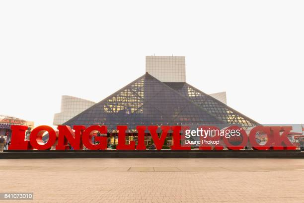 The Rock and Roll Hall of Fame and Museum on August 30 2017 in Cleveland Ohio