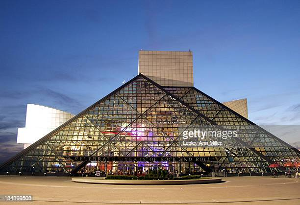 The Rock and Roll Hall of Fame at twilight during Rock Roar by the Shore Benefit Party at the Rock and Roll Hall of Fame and Museum at Rock and Roll...