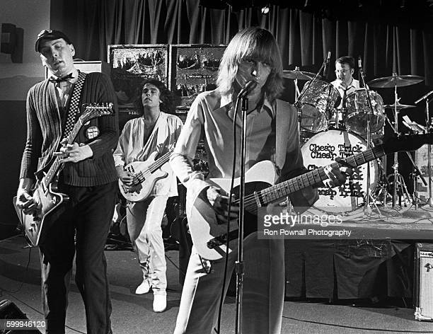 The Rock band Cheap Trick performs at The Paradise on June 9 1978 in Boston Massachusetts