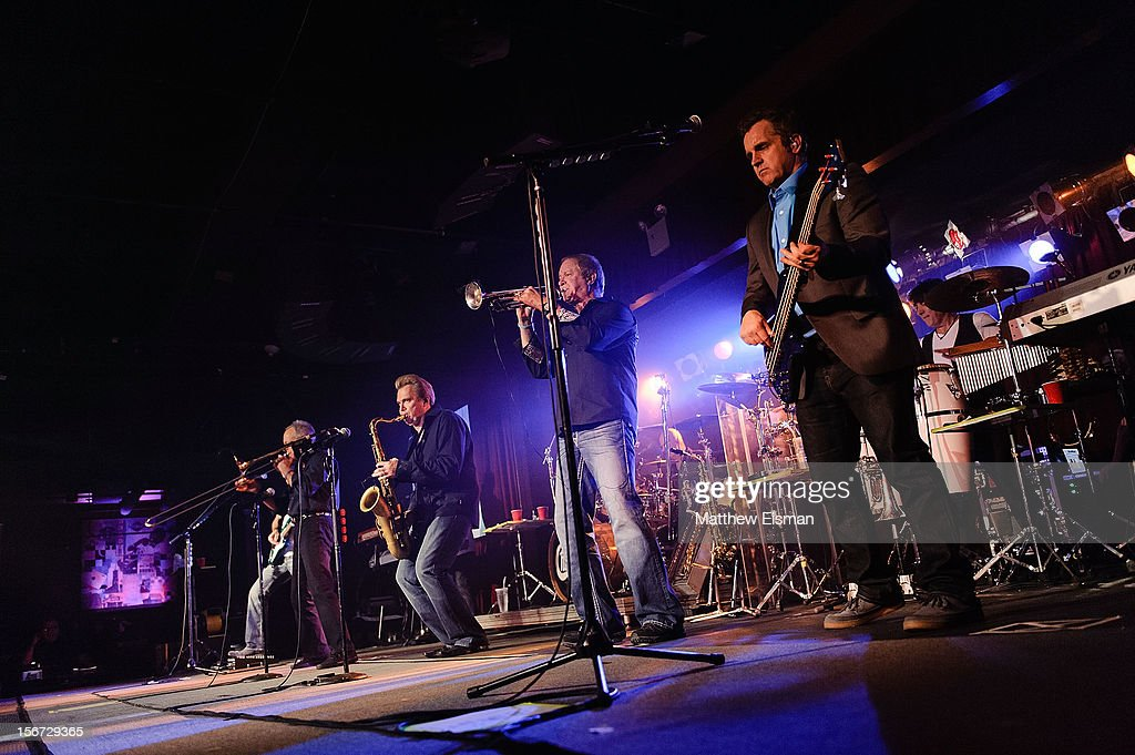 The rock band Chicago performs on stage during the 2012 Musicians On Call benefit concert at B.B. King Blues Club & Grill on November 19, 2012 in New York City.