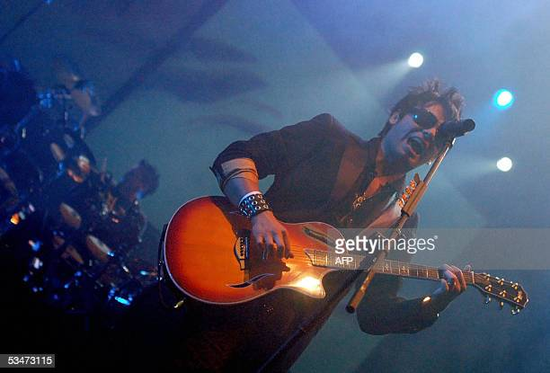 The rock band La Ley from Chile perform at the Palacio de Los Deportes in Heredia, 12 kms north of San Jose, 27 August 2005, in their last concert in...