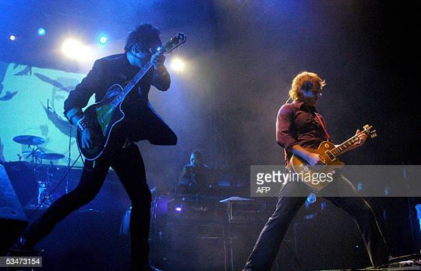 The rock band La Ley from Chile perform at the Palacio de Los Deportes in Heredia 12 kms north of San Jose 27 August 2005 in their last concert in...