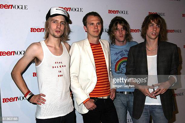 The rock band Razorlight arrives at the Teen Vogue Young Hollywood Party at Chateau Marmont on September 23 2004 in Hollywood California