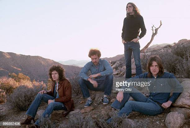 The rock band The Eagles rest in a desert valley The Eagles were the most popular band of the seventies and their reunion tour in the nineties was...
