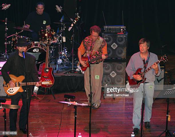 The Rock Bottom Remainders featuring Dave Barry Mitch Albom Amy Tan Scott Turow and the Bryd's Roger McGuinn play a benefit concert on October 28...
