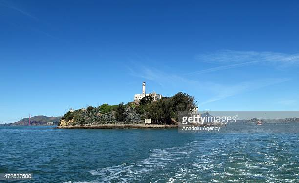 The Rock former highsecurity prison and now visited by tourists as a museum in San Francisco Bay of California on April 15 2015 'The Rock' the island...