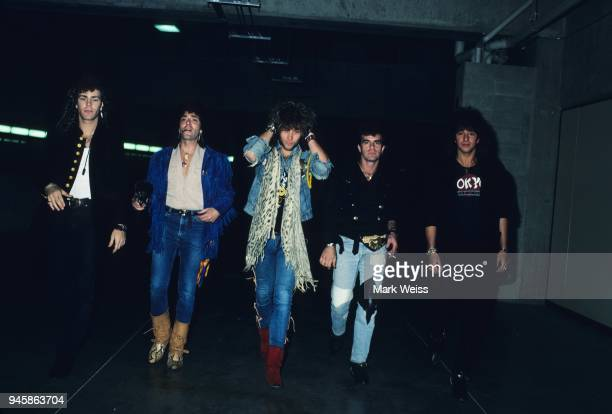 The rock group Bon Jovi in May 1986