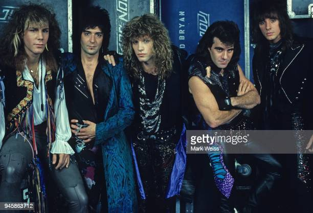 The rock group Bon Jovi photo session in September 1986