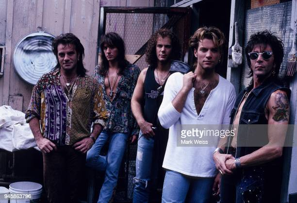The rock group Bon Jovi studio photo session in August 1992