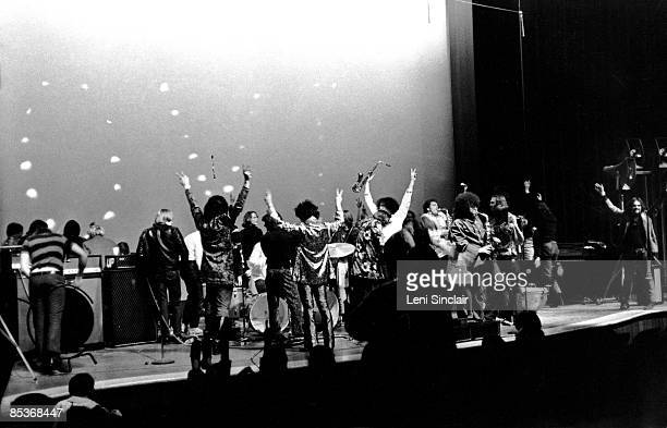The rock group MC5 perform live at the Community Arts Auditorium at Wayne State University in 1967 in Detroit Michigan