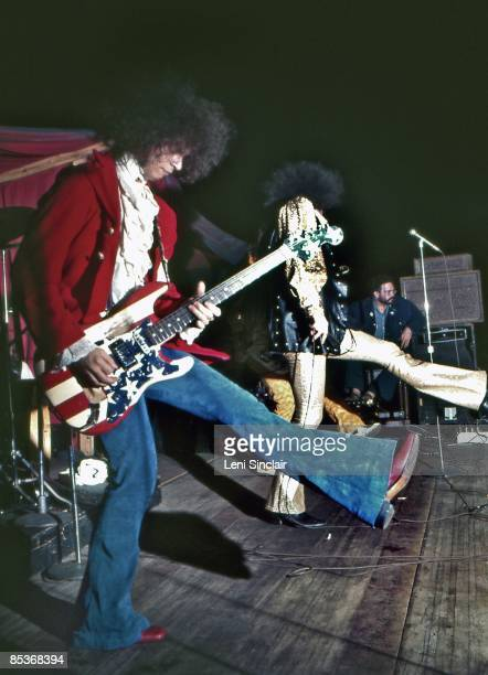 The rock group MC5 perform live at the Grande Ballroom in 1969 in Detroit Michigan